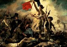 Eugene Delacroix la Libertà che guida il popolo